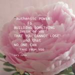 Snippertje inspiratie: Authentic power