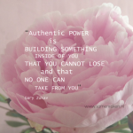 Snippertje inspiratie: Authentic power